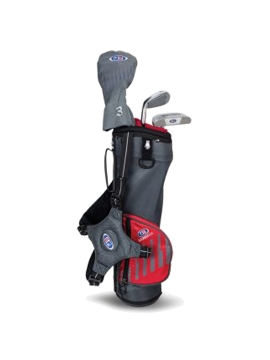 US KIDS GOLF - UL39-S 3 CLUB CARRY SET, GREY/RED BAG