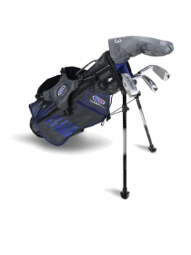 US KIDS GOLF - UL45-s 4 Club Junior Stand Set - Graphite Shafts - Grey / Blue Bag - 5 to 7 Years