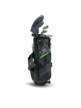 US KIDS GOLF - UL57-S 5 CLUB DV3 STAND SET, GREEN/GREY BAG (RH ONLY)