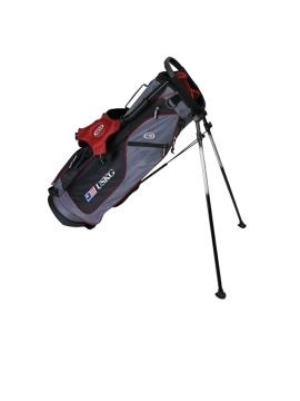 UL60 Stand Bag, Grey/Maroon