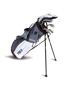 US KIDS GOLF - TS3-60 7 Club Set, Combo Shafts, Grey/White/Maroon Bag - 10 TO 12 YEARS