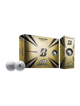 Bridgestone e12 Contact Golf Balls - 1 Dozen White