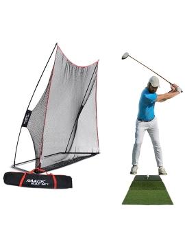 Rukket Haack Golf Net + Tri-Turf Mat