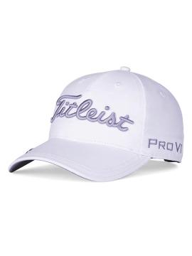Women's Tour Performance Ball Marker Cap - White/Lavender