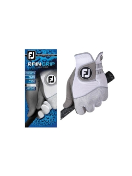 FootJoy Rain Grip Men's Glove - White/Grey