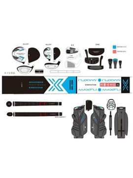 Maxfli Executive Ladies Package - Graphite - 12 Piece