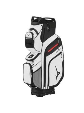 Mizuno BR-D4 Cart Bag-White/Black