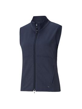 Puma Cloudspun Full Zip Vest - Womens - Navy Blazer / Heather