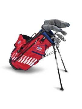 US KIDS GOLF - UL48-S 7 CLUB DV3 STAND SET, BLUE/RED/WHITE BAG (RH ONLY) - 6 TO 8 YEARS