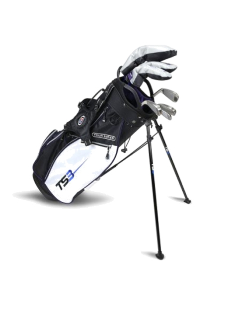 US KIDS GOLF - TS3-54 7 Club Set, Graphite Shafts, Black/White/Purple Bag